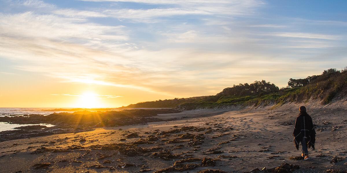SUNSET AT BEAR GULLY, VICTORIA, AUSTRALIA