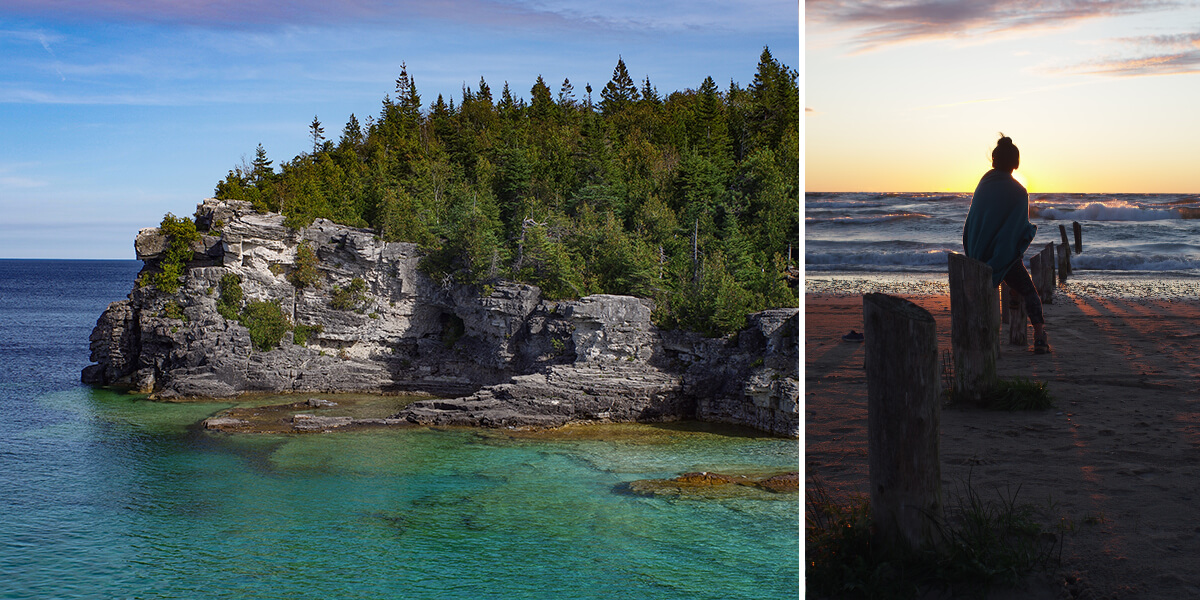 The Grotto, Tobermory, ONTARIO, CANADA | Sunset at SAUBLE BEACH, ONTARIO, CANADA