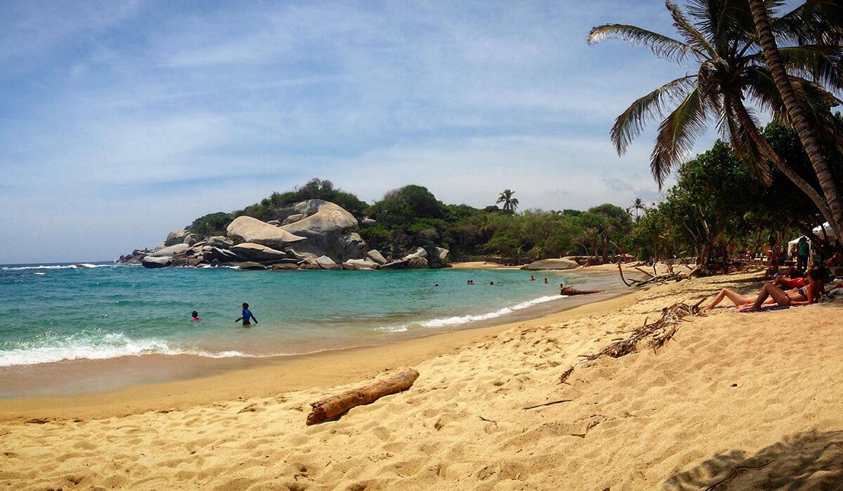 The beach at Cabo de San Juan in Tayrona National Park