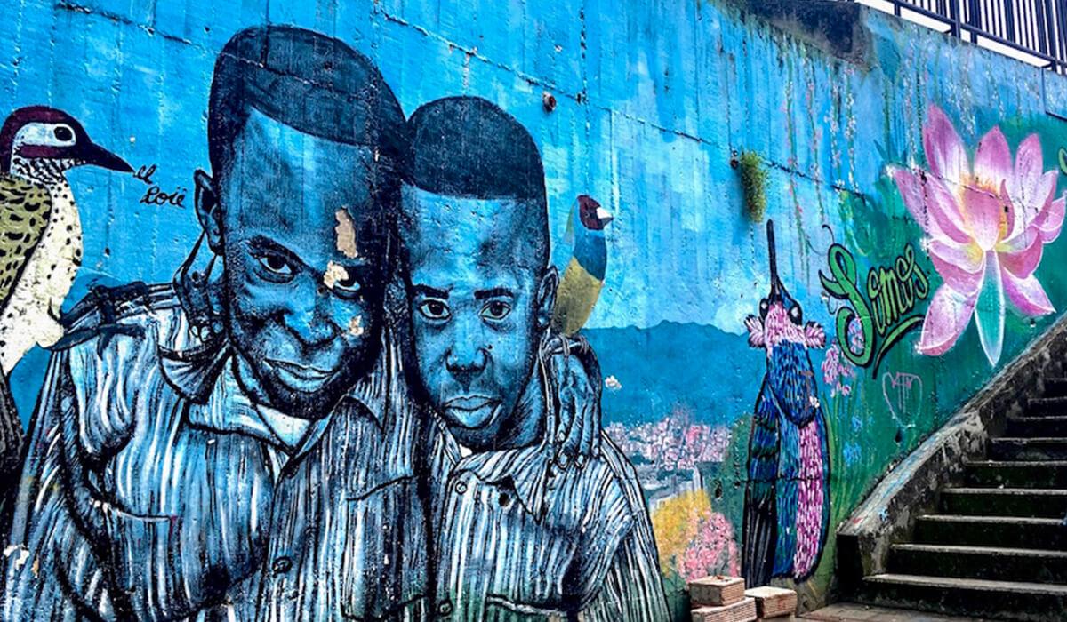 Comuna 13 graffiti in Medellin, Colombia